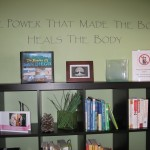 library at chiropractor office