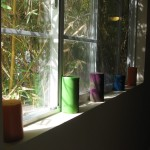 candles at window