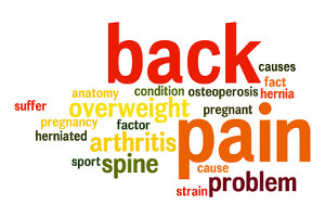 back pain spine word cloud