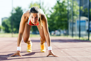 sprinter at start line